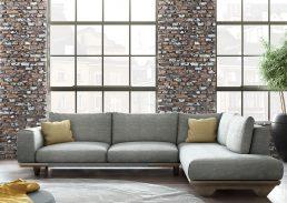 γωνιακός καναπές milos