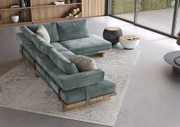 γωνιακός καναπές florence