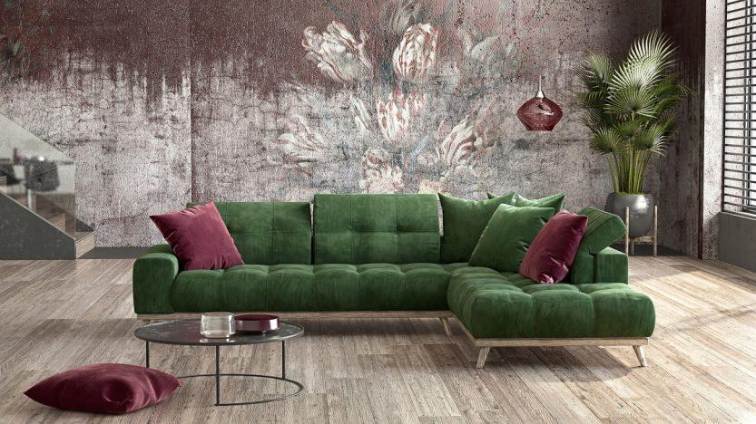 γωνιακός καναπές milano