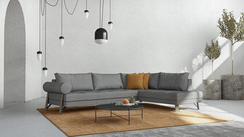 γωνιακός καναπές sikinos
